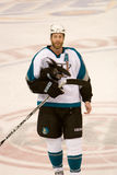 Tiburones de Joe Thornton Of The San Jose Fotos de archivo