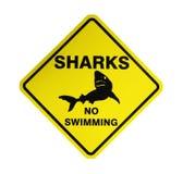 Tiburones - señal de peligro Fotografía de archivo libre de regalías
