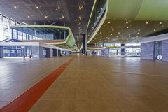 Tiburtina rail train station interior Stock Photo