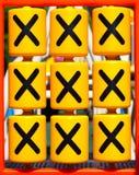 Tic TAC脚趾XO比赛 免版税库存照片