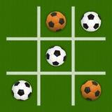 Tic-Tac-Dedo do pé do futebol Imagem de Stock
