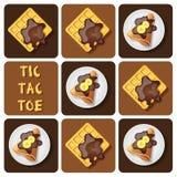 Tic-TAC-dito del piede del crêpe e della cialda Fotografie Stock Libere da Diritti