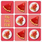 Tic-TAC-dito del piede del crêpe e della crostata Fotografia Stock