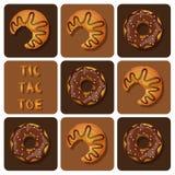 Tic-TAC-dito del piede del croissant e della ciambella Immagine Stock Libera da Diritti