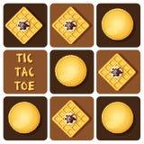 Tic-TAC-dito del piede di macaron e della cialda Immagini Stock