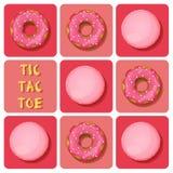 Tic-TAC-dito del piede di macaron e della ciambella Fotografia Stock Libera da Diritti
