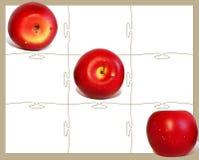 tic tac jabłka palca Zdjęcie Royalty Free