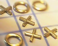 Tic-tac-punta Imágenes de archivo libres de regalías