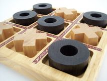 Tic Tac Toe 1. Wooden tic tac toe game Royalty Free Stock Images