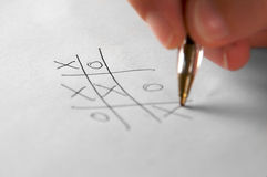 Tic Tac Toe. The simple, but good game for time wasting royalty free stock image