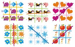 Tic-tac-toe. Vector illustration Stock Photography