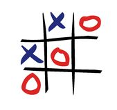 Tic tac toe. Game illustration Stock Photography