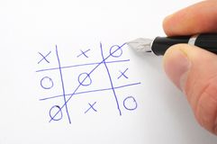 Tic tac toe. Game on paper showing success concept Royalty Free Stock Photography