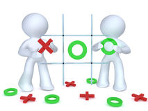 Tic Tac Toe. Admiii playing Tic tac toe.Image isolated on a white back ground Stock Image
