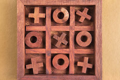 Tic tac toe. In a box Royalty Free Stock Photos