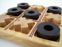 Tic Tac Toe 2. Wooden tic tac toe game stock images