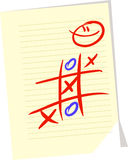 Tic tac toe. Hand drawn tic tac toe game Stock Photo