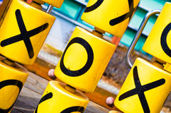 Tic Tac Toe. Game on a children's playground Royalty Free Stock Photography