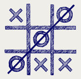 Tic tac toe. Doodle style Stock Photos