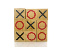 Tic tac toe. Blocks on a white background Stock Photography