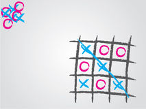 Tic tac toe background Royalty Free Stock Images