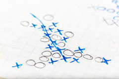 Tic-tac-toe background Stock Images