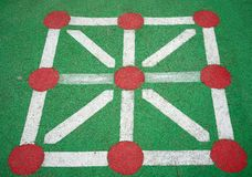 Tic tac toe. A tic tac toe at Basque Country playground area Royalty Free Stock Image