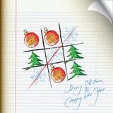 Tic-tac-toe Christmas symbols Stock Photography