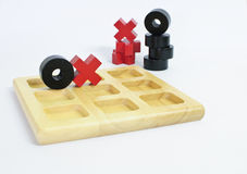 Tic-tac-toe classic game Stock Photos