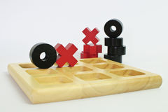 Tic-tac-toe classic game Royalty Free Stock Photo