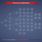 Tic-tac-toe combinations Royalty Free Stock Photography