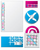 Tic tac toe company set Stock Photos