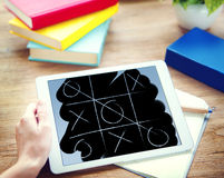 Tic Tac Toe Competition Challenge Winner Concept de jeu de loisirs Photo libre de droits