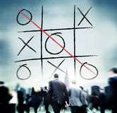 Tic Tac Toe Competition Challenge Winner Concept de jeu de loisirs Photos libres de droits