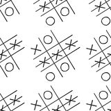 Tic-tac-toe competition seamless pattern. Hand drawn, stock  illustration Royalty Free Stock Images