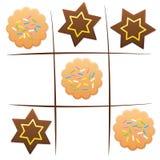 Tic Tac Toe de las galletas de la diversión del juego de la Navidad stock de ilustración