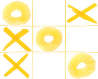 Tic-tac-toe from fruits Stock Images