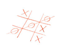 Tic tac toe game. Symbol luck, success, victory Stock Photos