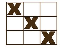 Tic tac toe game. Black  shaped tic tac toe game Royalty Free Stock Image