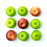 Tic tac toe game with apples. Tic tac toe game using apples on white background Royalty Free Stock Image