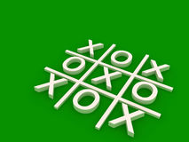 A tic tac toe game board. A 3d green tic tac toe game board Stock Photos