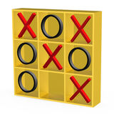 Tic-Tac-Toe Game. 3D tic tac toe game  on white Royalty Free Stock Images