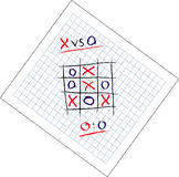 Tic Tac Toe game draw Royalty Free Stock Image