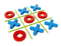 Tic tac toe game isolated on white background. 3D illustration Stock Photography