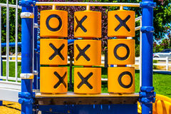 Tic-Tac-Toe Game At Local Childrens Playground Stock Photo