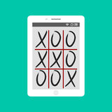 Tic-tac-toe game mobile app concept vector illustration. Stock Photography
