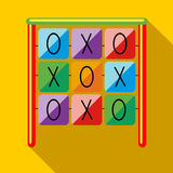 Tic tac toe game on a playground icon Royalty Free Stock Image