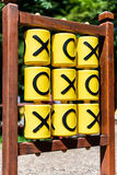 Tic-tac-toe game on the playground. In sunny weather stock images