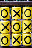 Tic-tac-toe game on the playground Royalty Free Stock Photos