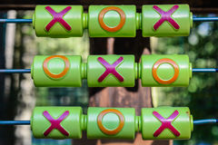 Tic-tac-toe game on the playground Royalty Free Stock Image